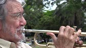 probówki : Old Man Playing Trumpet Wideo