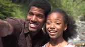 bağıl : African Family or Friends Stok Video
