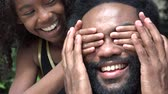 vista : African Father and Daughter Having Fun