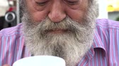 broda : Bearded Old Man Drinking Coffee