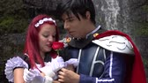 nobre : Romantic Prince And Female Cosplay Stock Footage