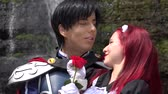 nobre : Prince Kisses Maiden Cosplay Stock Footage