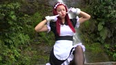 personagem : Cute Female Cosplay Maid Stock Footage