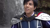 nobre : Heroic Prince In Cosplay Costume Stock Footage