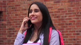 entusiasta : Excited Teen Female Student Talking On Phone
