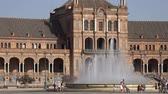 konak : Water Fountain And Spanish Palace Stok Video