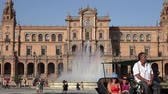 mare : Horse Drawn Carriage At Spanish Palace Stock Footage