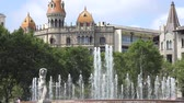 Water Fountain And Spanish Architecture Of Barcelona
