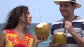 humor : People Having Fun On Tropical Vacation Stock Footage