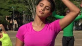 delgado : Fit Young Woman Stretching Her Neck