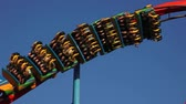 rodas : Roller Coaster During Summer Stock Footage