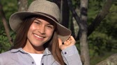 smiling girl : Smiling Teen Girl During Summer Stock Footage