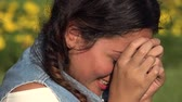 emocional : Sad Female Crying Stock Footage