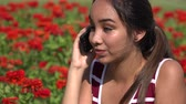 communications : Female Teen Listening On Phone Call