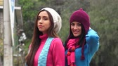 senhora : Cold Young Women Wearing Knit Sweaters
