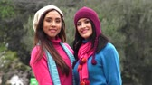 senhora : Hispanic Women Wearing Sweaters On Cold Day