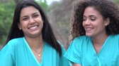 etnický : Hispanic Female Nurses Wearing Scrubs