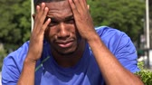 belirsiz : Confused Distraught Black Male Athlete