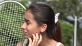 Anxious Teen Female Tennis Player