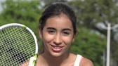 Teen Female Tennis Player Talking