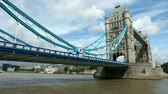 sky : timelapse shot of tower bridge in london, on a nice summer day, london