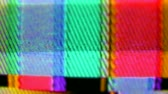 искажение : television and film static and electronic noise captured from an old television