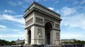memorial : Timelapse of the arc de triomphe, paris on a beautiful summers day Stock Footage