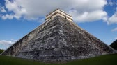 itza : timelapse of the mayan ruins at chichen itza, yucatan, mexico. Stock Footage