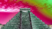 itza : time-lapse of the mayan ruins at chichen itza, mexico.