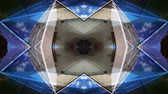 abstract : Abstract kaleidoscope pattern made from timelapse clip of the grande arc in paris