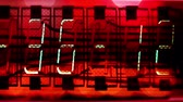 nixie : numerical digital display made from an LED clock counter Stock Footage