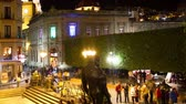 com sombra : timelapse at night in the zocalo (main square) in the beautiful city of guanajuato Stock Footage