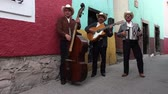 trio : a mariachi group filmed in guanajuato, mexico with included audio Stock Footage