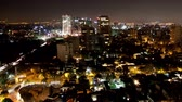 skyline : a time-lapse of the mexico city skyline at night Stock Footage