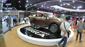 колеса : Bangkok, Thailand - December,10  2018 : People visit new car model at Thailand International Motor Expo 2018 MOTOR EXPO 2018 on Dec 10,2018 in Bangkok, Thailand
