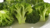 Fresh hot broccoli vegetables close up shoot