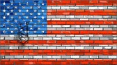 tipo de letra : Brick Wall USA flag with effects,  United States of America flag font with effects,  Font with the USA flag,  Flag crumble effect
