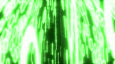 nixie : Binary data glowing closeup perspective green Stock Footage