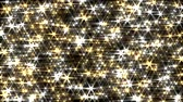 Glitter background loop gold and silver lens flare sparkle curtain