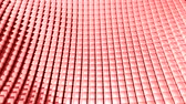disperso : Cube grid patterns wobble abstract background pink red