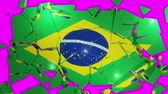 democrat : Brazilian flag collapse brazil 4k