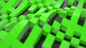 gaming chips : Pixel blocks background game screen 3d plastic digital display voxel Stock Footage