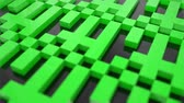 computer chip : Pixel blocks background game screen 3d plastic digital display voxel Stock Footage