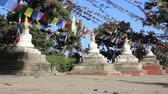 buddhista : Movement by the slider along the small stupas Stock mozgókép