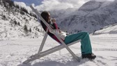 tea : Lounger in the mountains Stock Footage