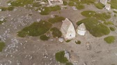 temető : Aerial shot of ancient dolmens