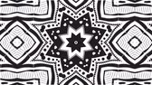 Abstract black and white video clip with a kaleidoscope pattern.