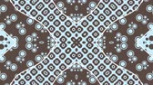 abstract : A video loop with a blue kaleidoscopic animation