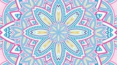 Looping video clip of an abstract floral kaleidoscope.