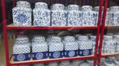 cruche : Chinese Ceramic Jar placed on the shelves for sell on the market in phuket